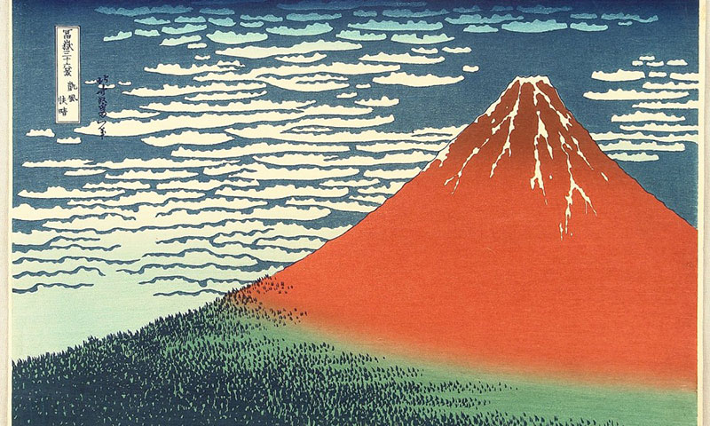 Hokusai-Le-Fuji-par-temps-clair-as-a-muse