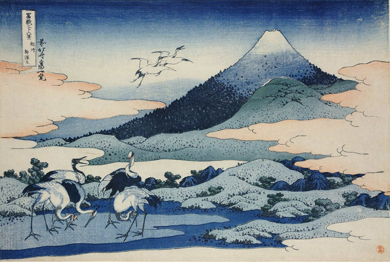 Hokusai, Umezawa Manor in Sagami Province from Thirty-six Views of Mt Fuji, 1831